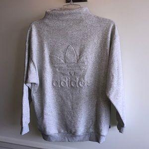 light grey Adidas mock neck pullover
